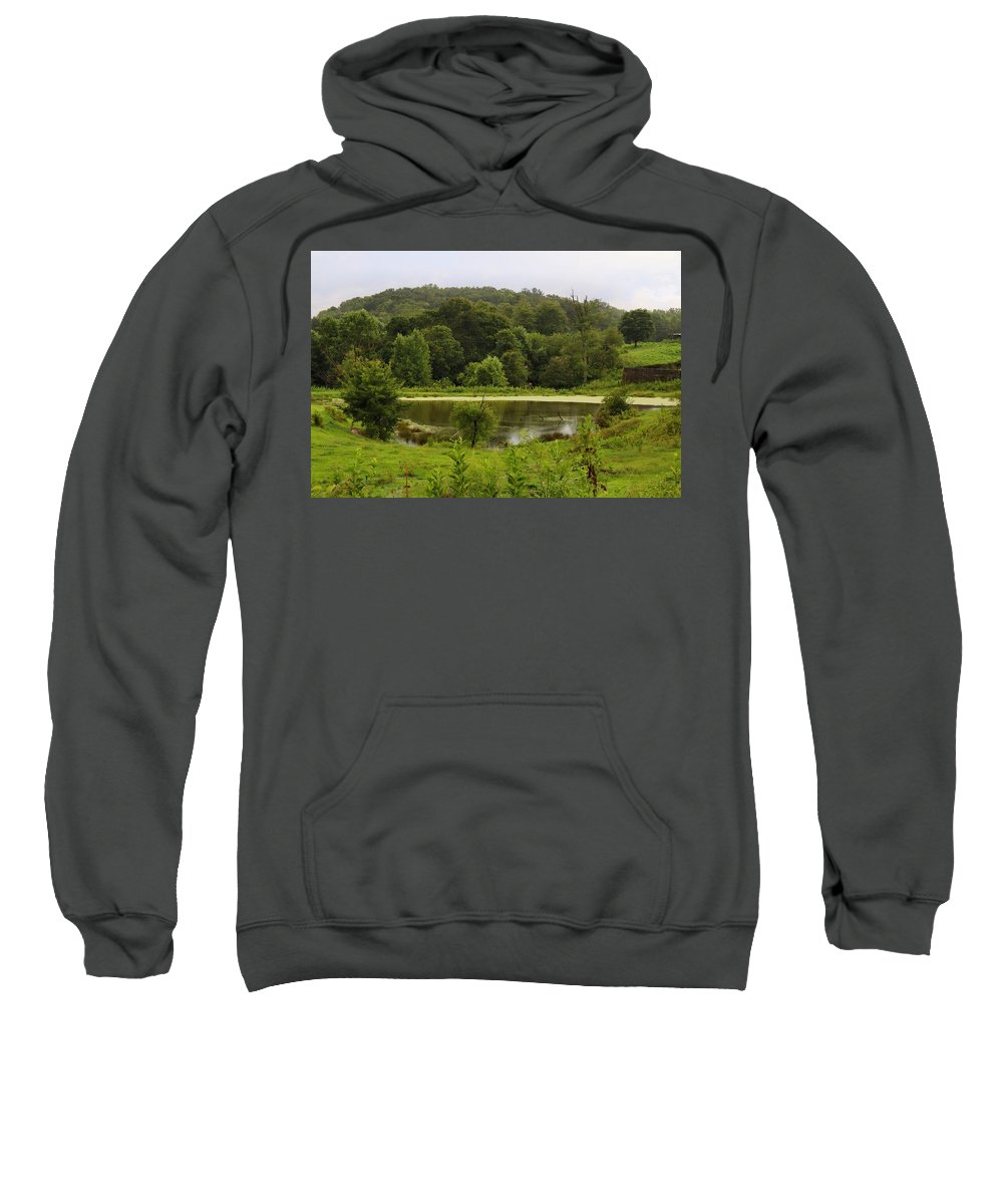 Pond Sweatshirt featuring the photograph Farm Pond by Kathryn Meyer