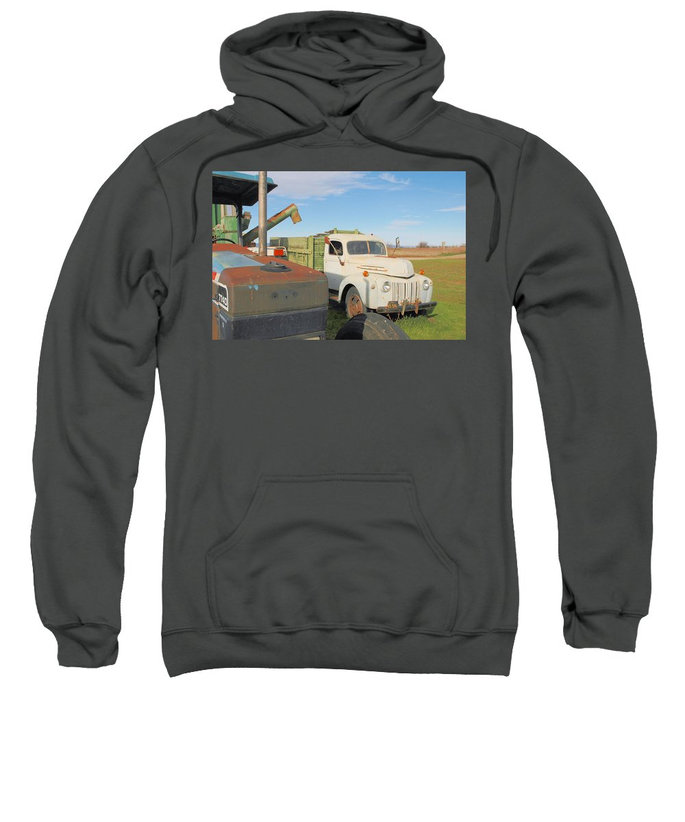 Truck Sweatshirt featuring the photograph Farm Truck by Josephine Buschman
