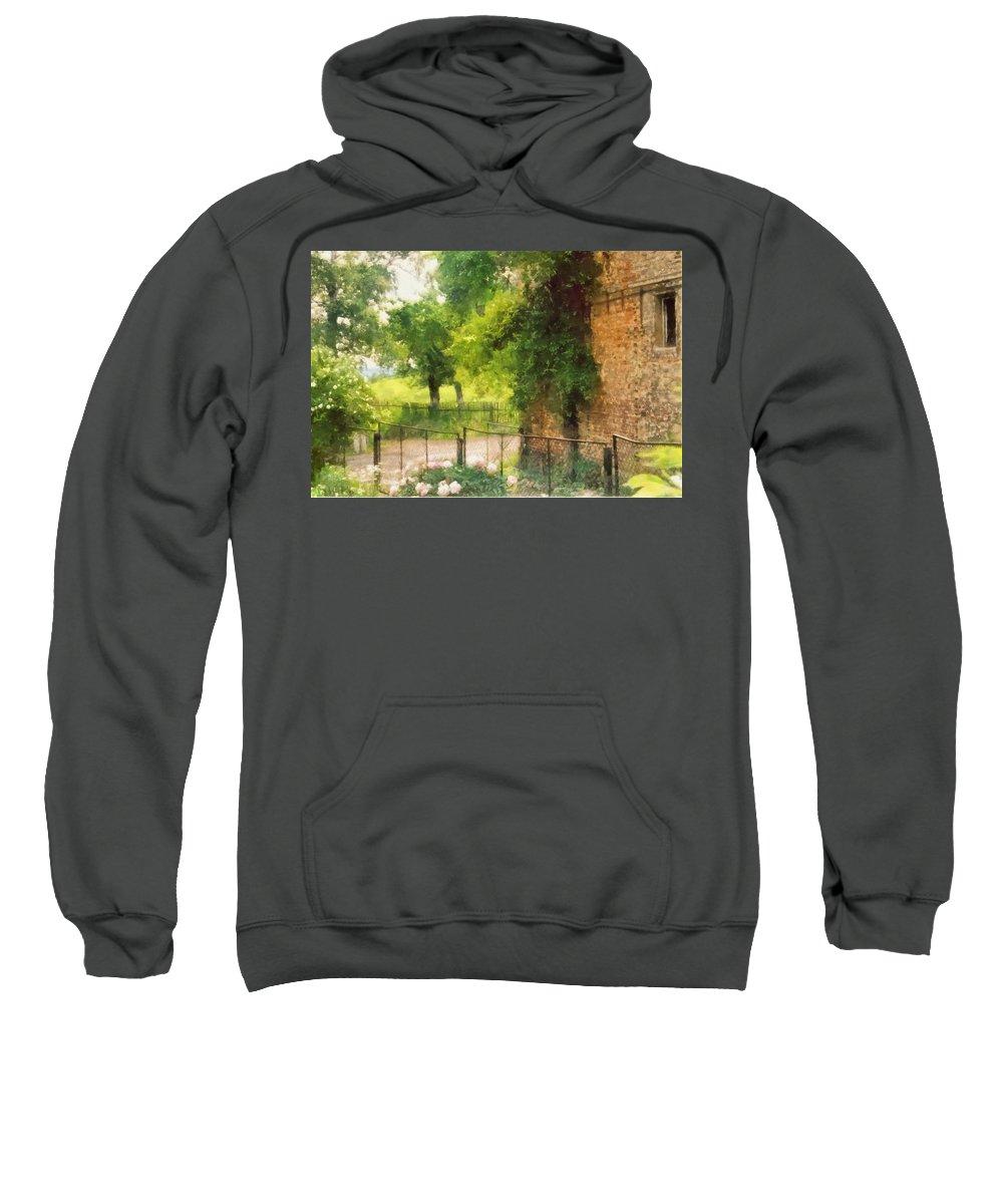 Farm Sweatshirt featuring the digital art Farm View by Marcin and Dawid Witukiewicz