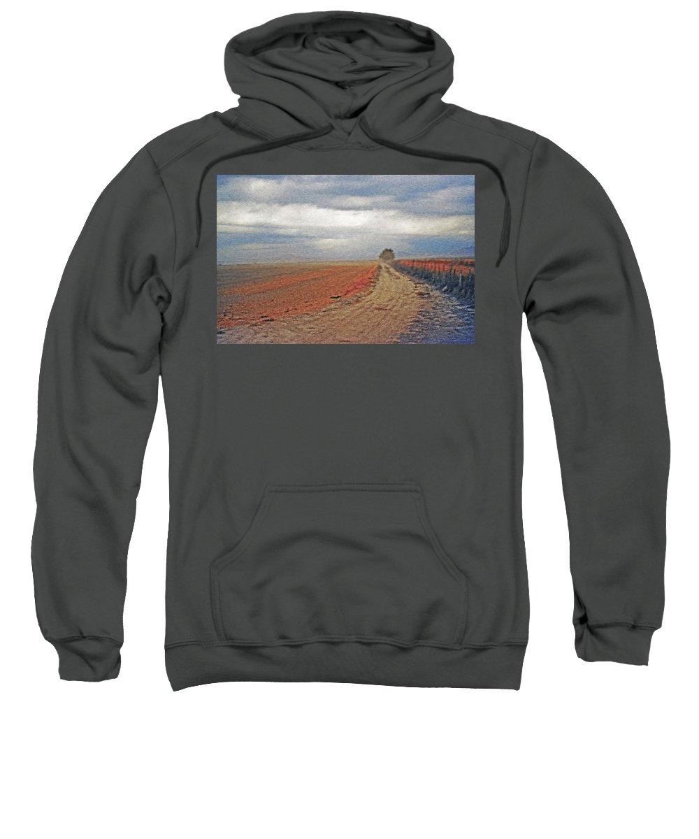 Farmland Sweatshirt featuring the photograph Farmland 3 by Steve Ohlsen