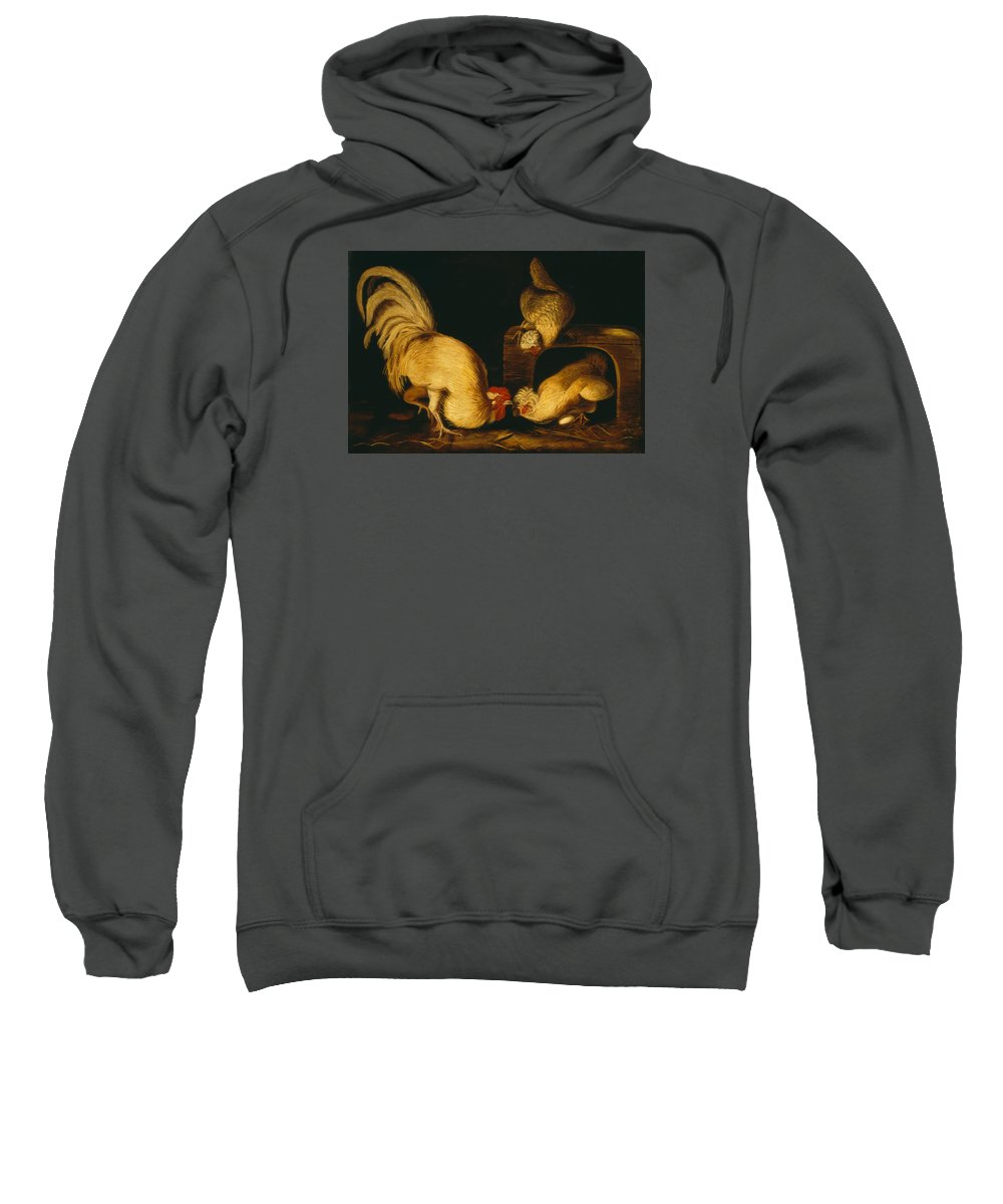 Painting Sweatshirt featuring the painting Farmyard Fowls by Mountain Dreams