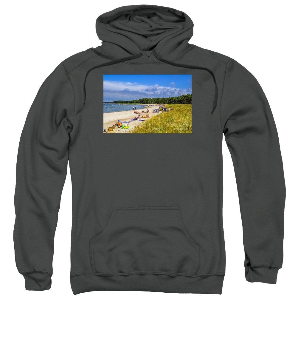 Beach Sweatshirt featuring the photograph Faro Beach by Roberta Bragan