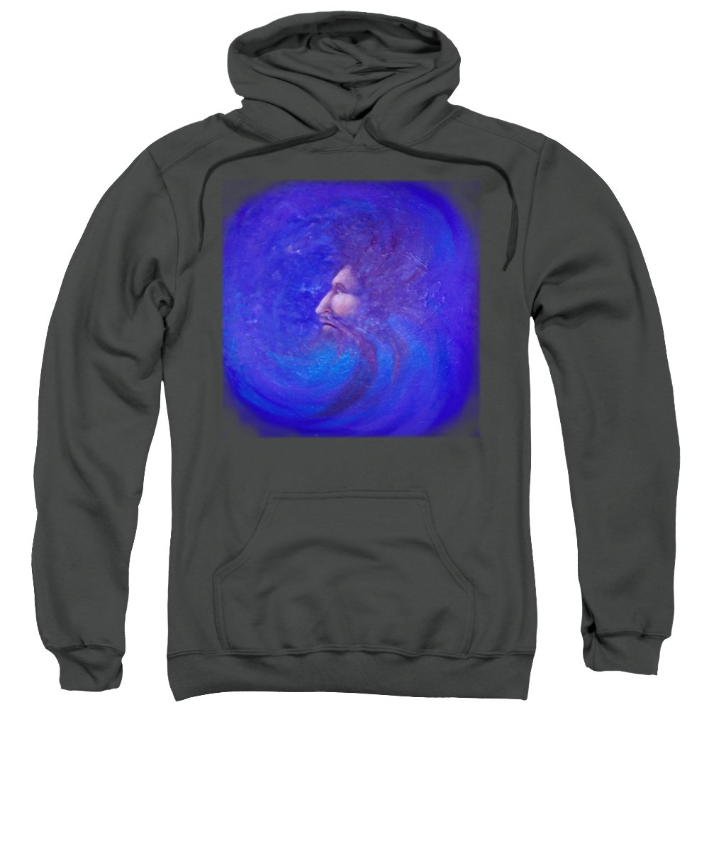 Time Sweatshirt featuring the painting Father Time by Kevin Middleton