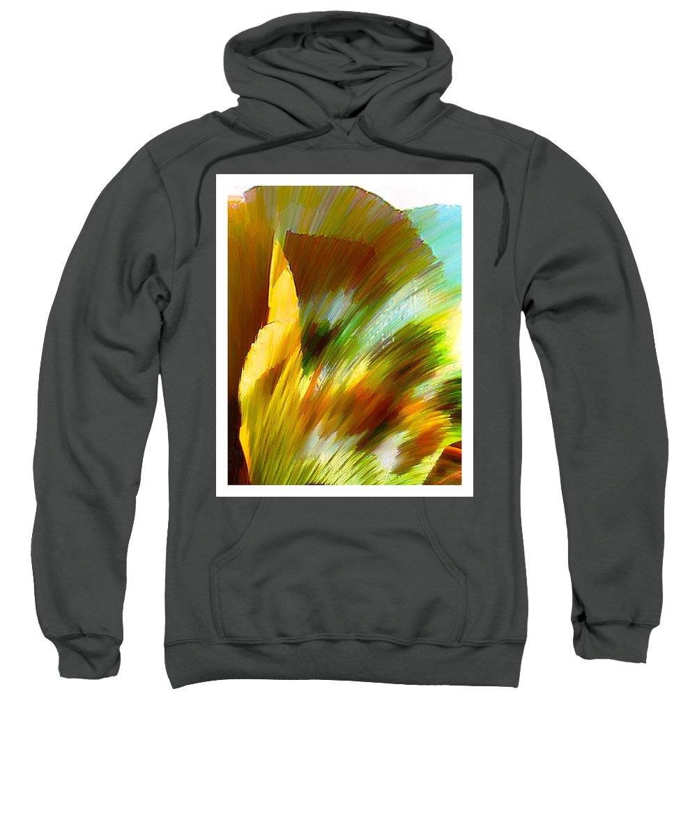 Landscape Digital Art Watercolor Water Color Mixed Media Sweatshirt featuring the digital art Feather by Anil Nene