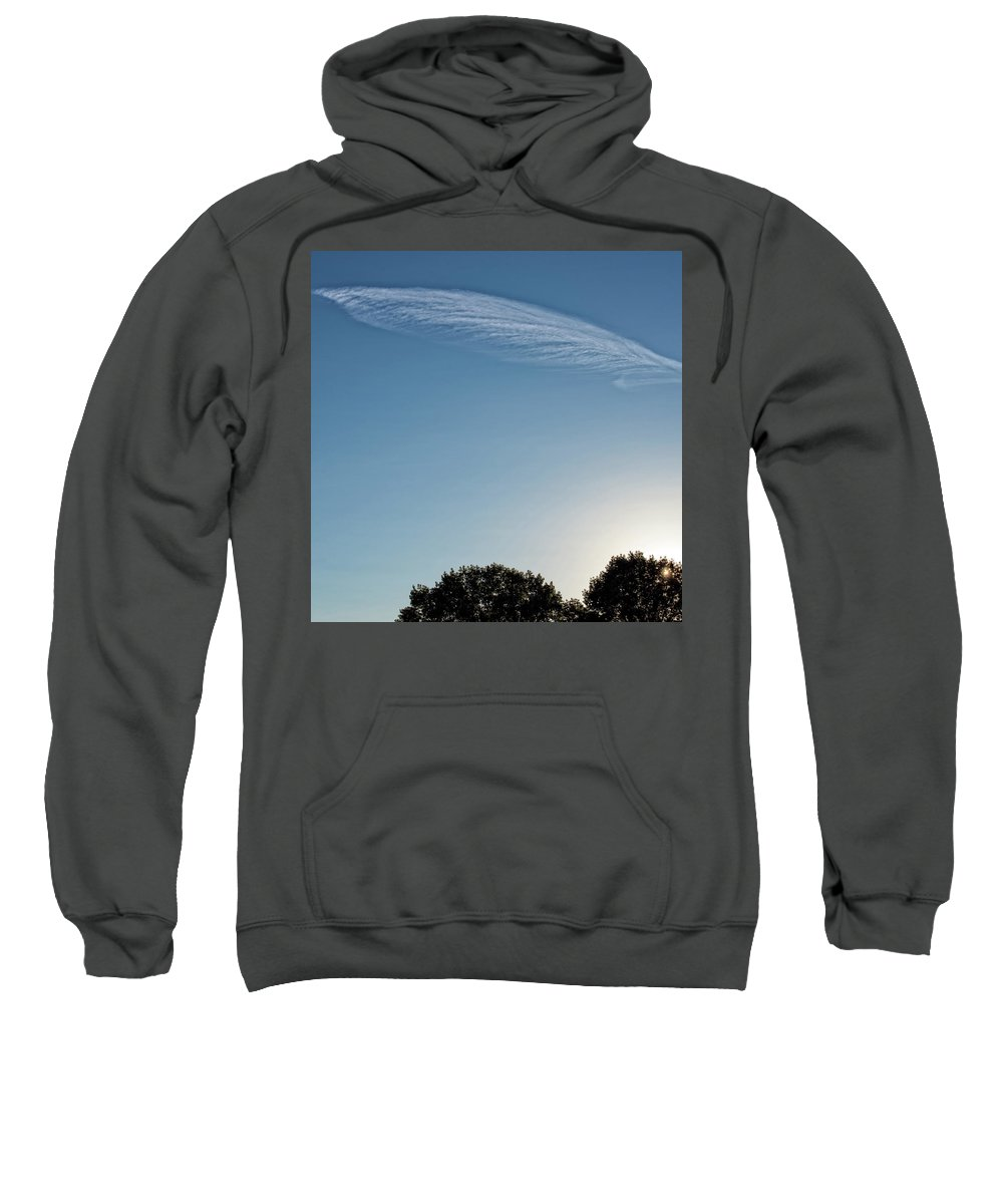 # Art Decor Sweatshirt featuring the photograph Feather Cloud by Anka Wong