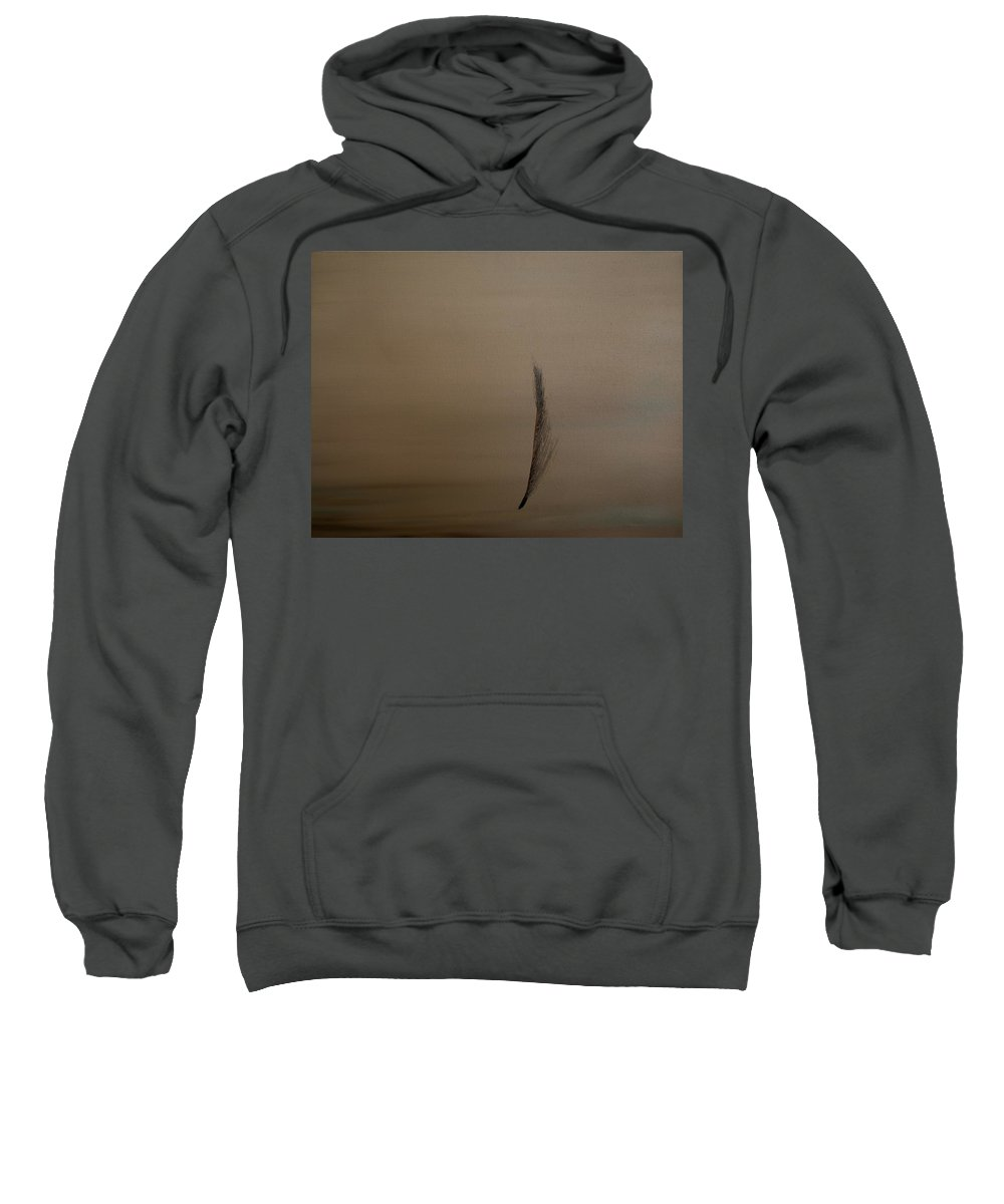 Feather Sweatshirt featuring the painting Feather by Jack Diamond