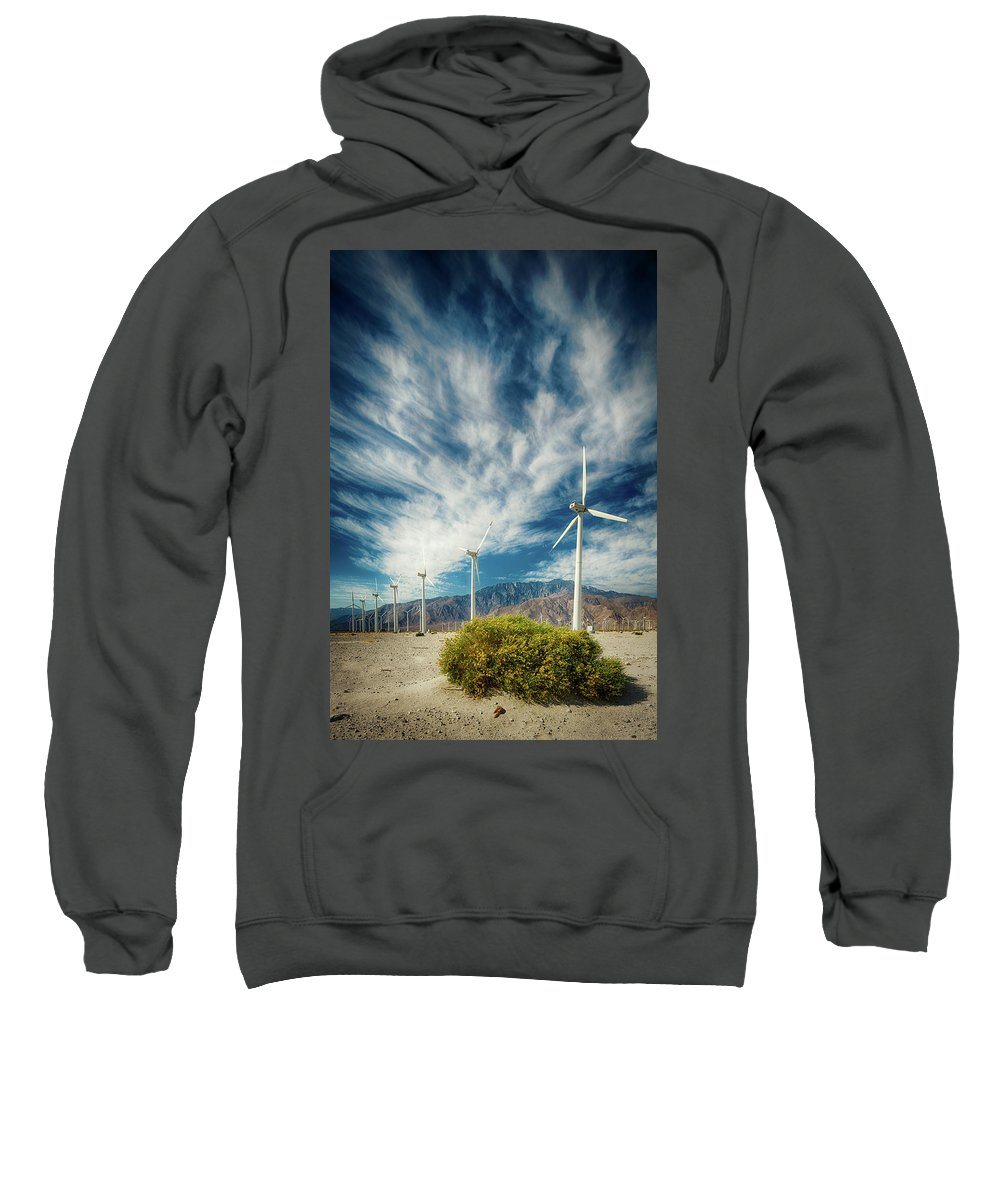 Wind Turbine Sweatshirt featuring the photograph Feathers In The Sky by Scott Campbell