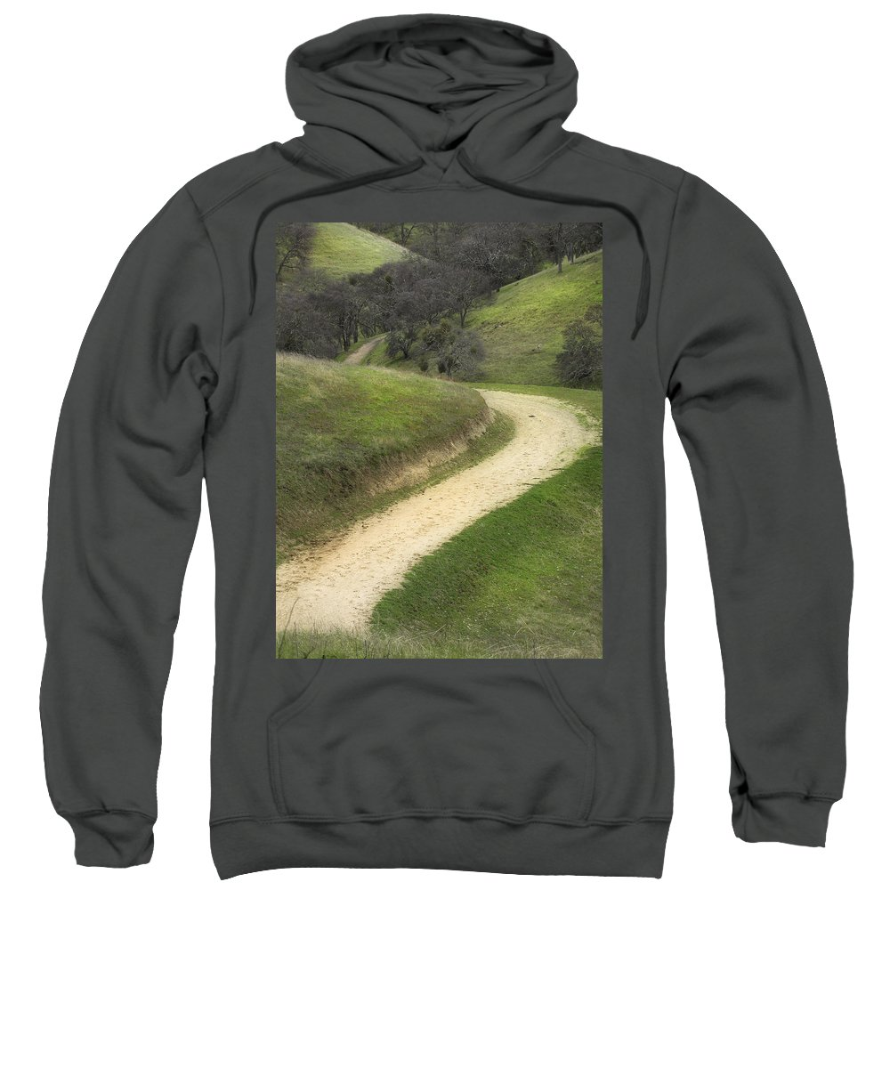 Landscape Sweatshirt featuring the photograph February Green by Karen W Meyer