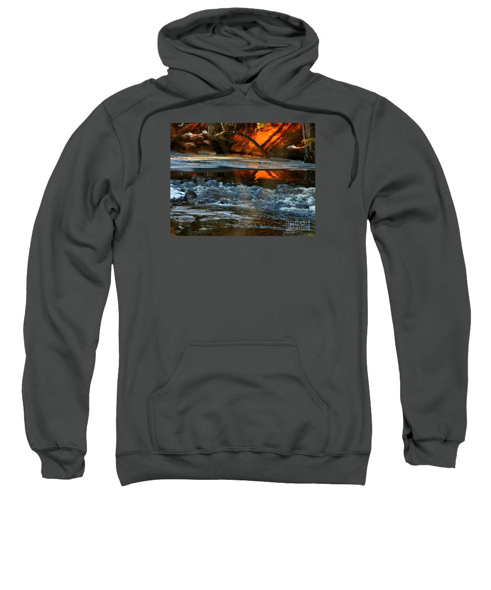 New England Sweatshirt featuring the photograph February Thaw In New England by Barbara S Nickerson