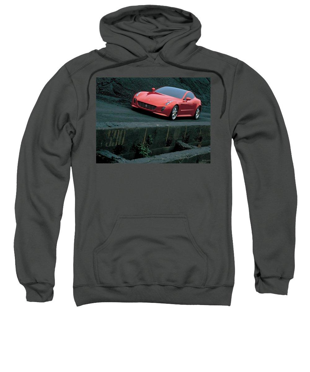 Ferrari Sweatshirt featuring the digital art Ferrari by Bert Mailer
