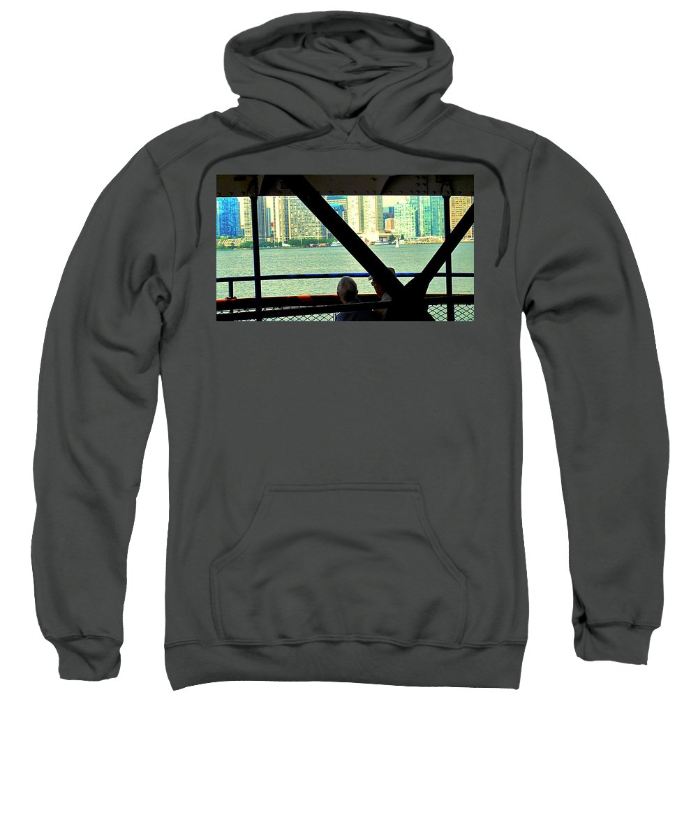 Ferry Sweatshirt featuring the photograph Ferry Across The Harbor by Ian MacDonald