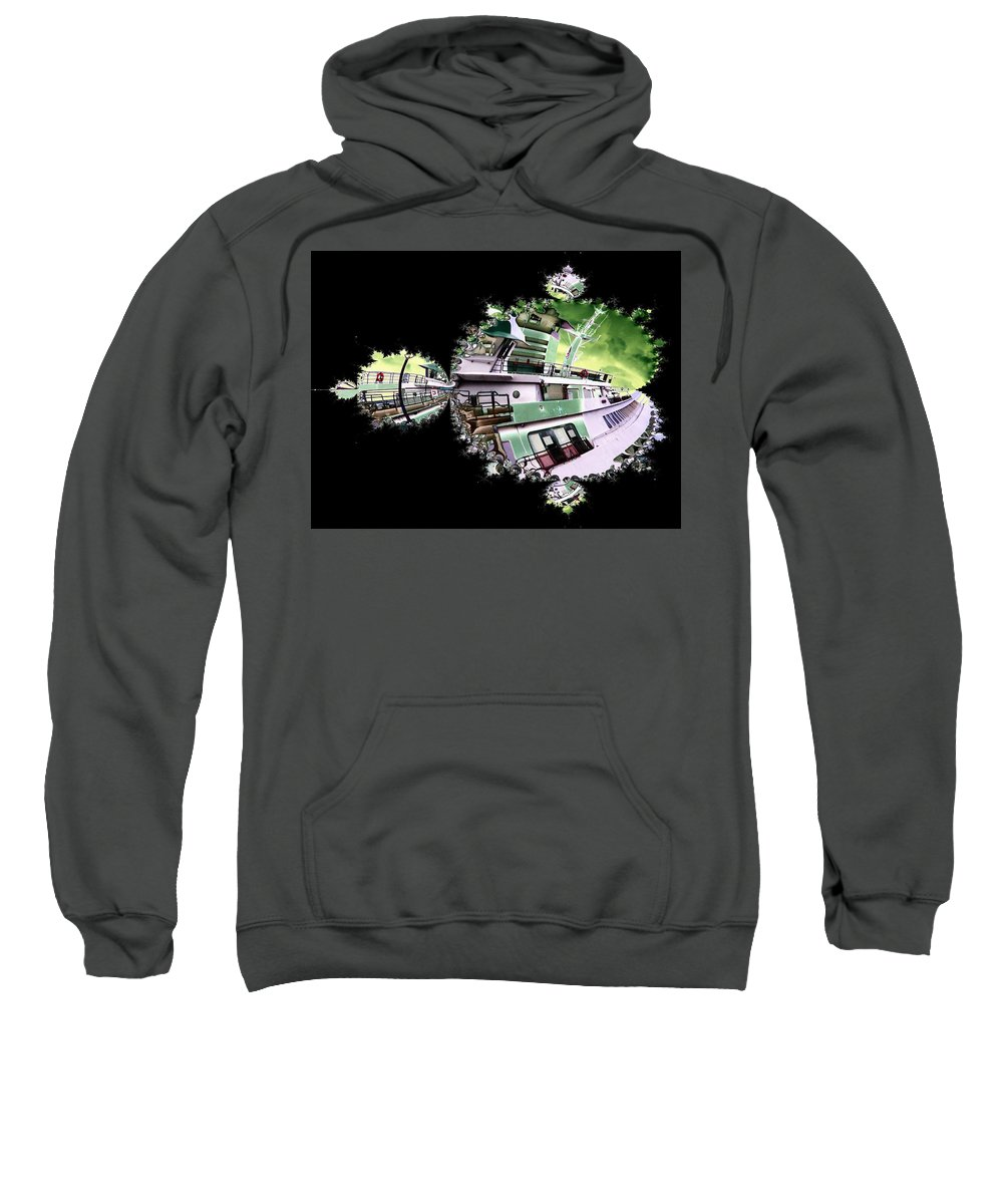 Seattle Sweatshirt featuring the digital art Ferry In Fractal by Tim Allen