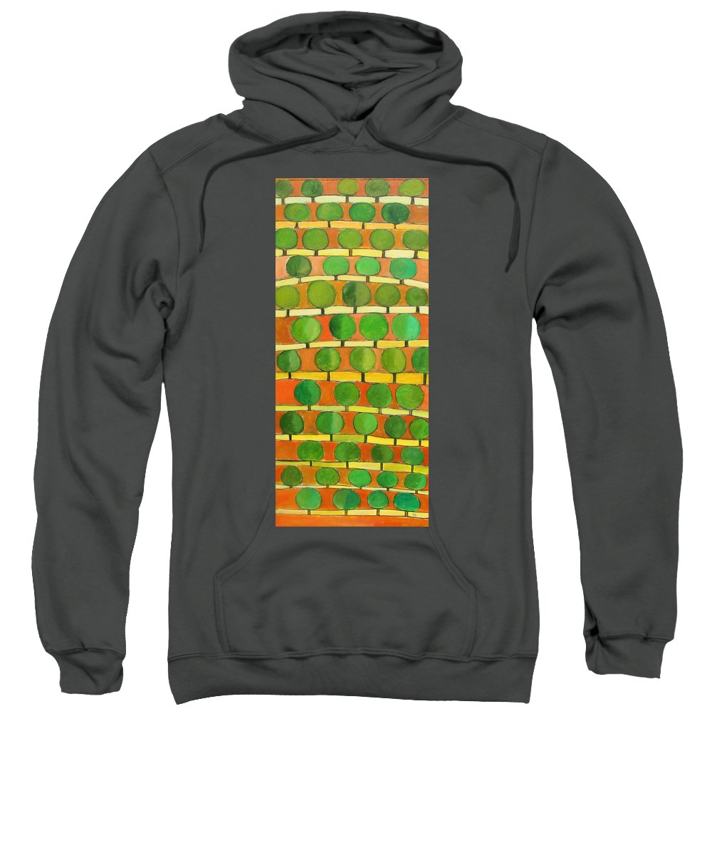Abstract Sweatshirt featuring the painting Fertile Soil by Habib Ayat