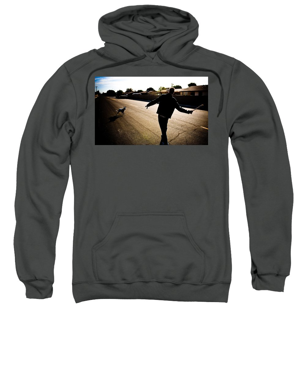 Fetch Sweatshirt featuring the photograph Fetch by Scott Sawyer