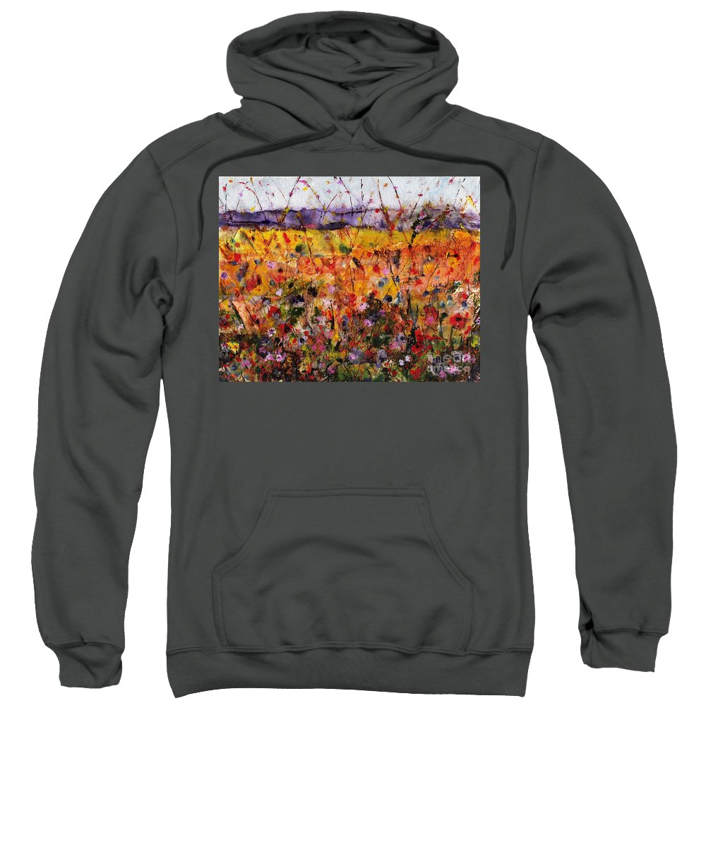 Flowers Sweatshirt featuring the painting Field Of Dreams by Frances Marino