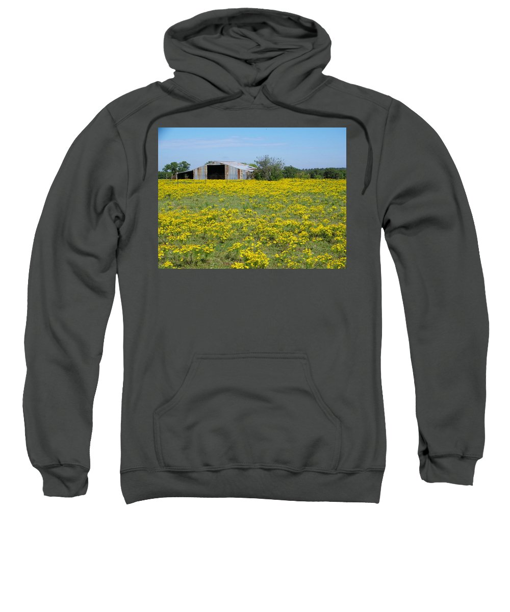 Yellow Sweatshirt featuring the photograph Fields Of Gold by Gale Cochran-Smith