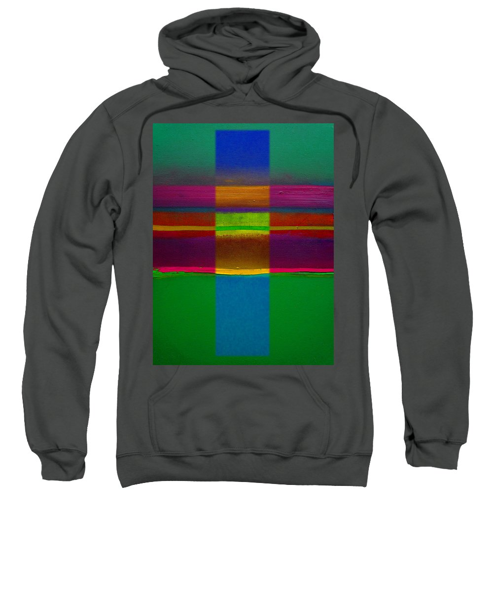Landscape Sweatshirt featuring the painting Fields Of Green by Charles Stuart