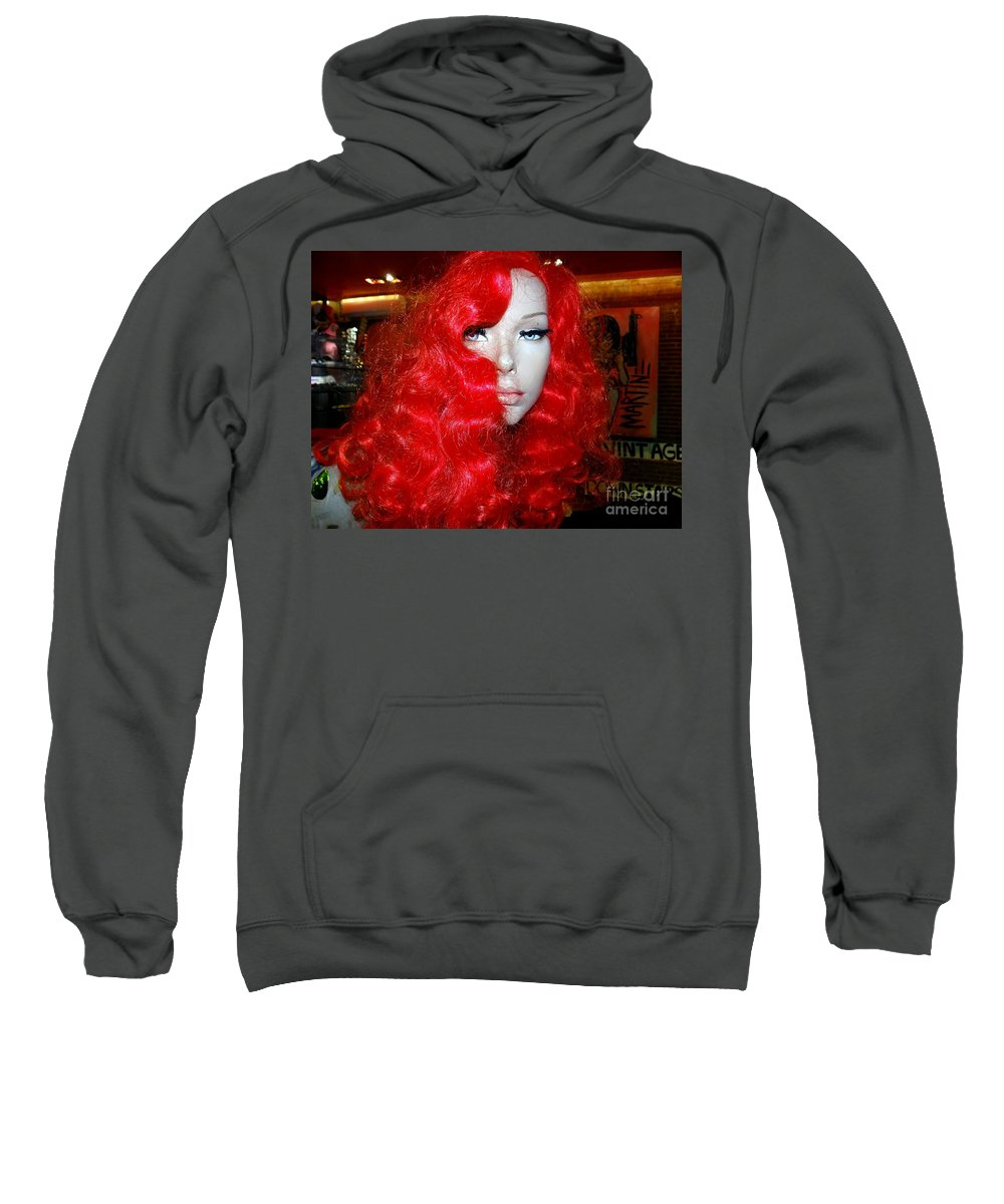 Mannequins Sweatshirt featuring the photograph Fiery Femme Fatale by Ed Weidman
