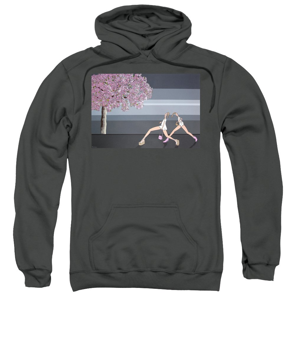 Girls Sweatshirt featuring the painting Fifteen by Patricia Van Lubeck