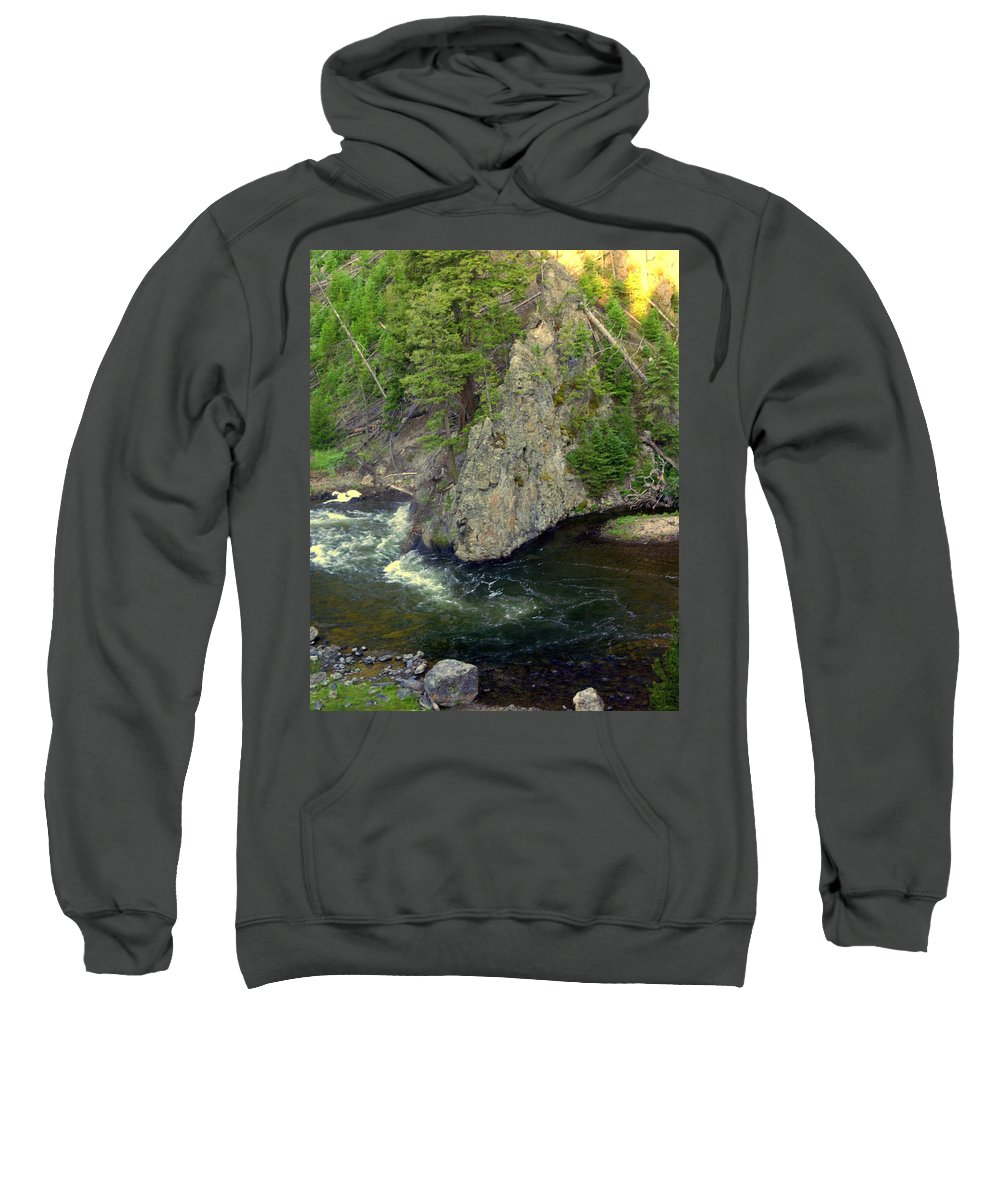 Firehole River Sweatshirt featuring the photograph Fin On The Firehole by Marty Koch