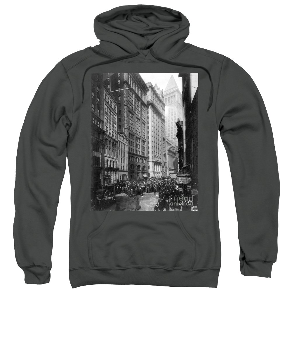 1920 Sweatshirt featuring the photograph Financial Center, C1920 by Granger