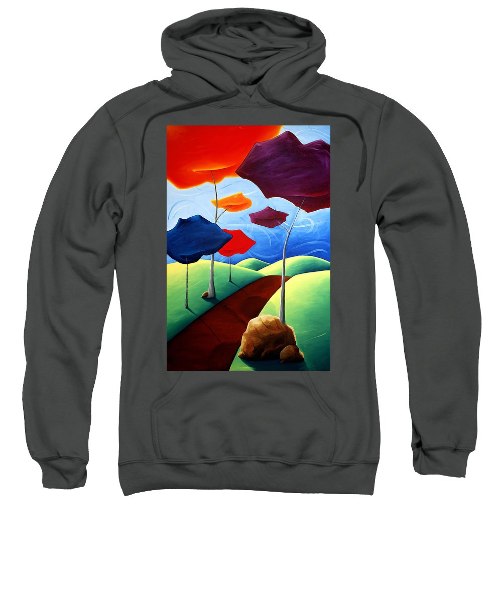 Landscape Sweatshirt featuring the painting Finding Your Way by Richard Hoedl