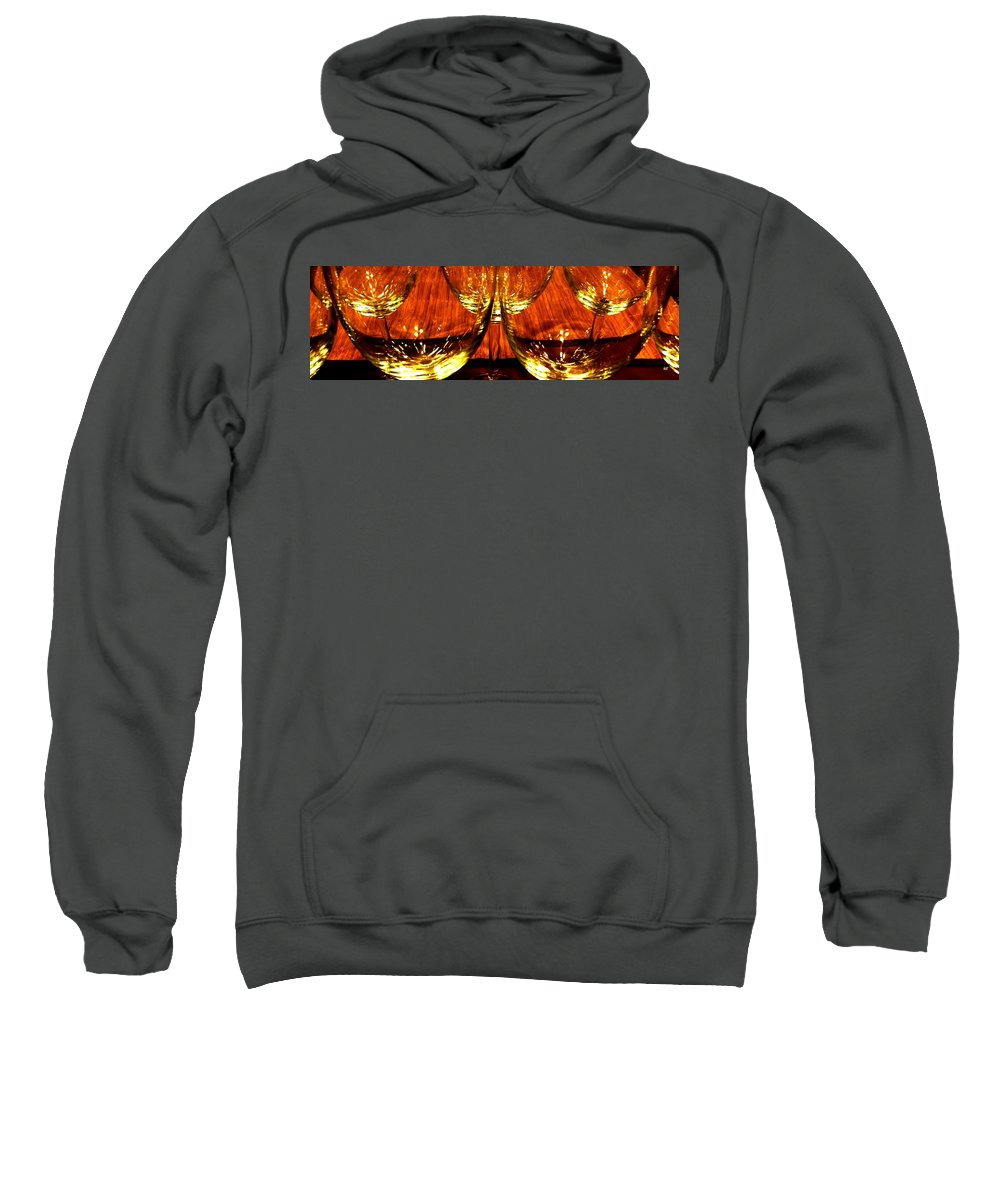 Wine Glasses Sweatshirt featuring the photograph Fine Wine And Dine 1 by Will Borden