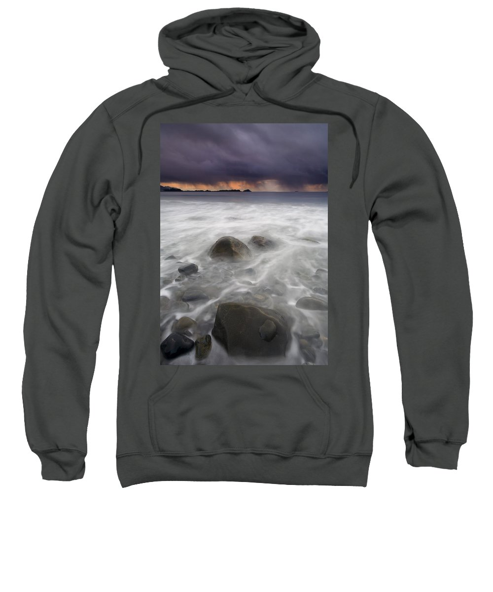 Storm Sweatshirt featuring the photograph Fingers Of The Storm by Mike Dawson