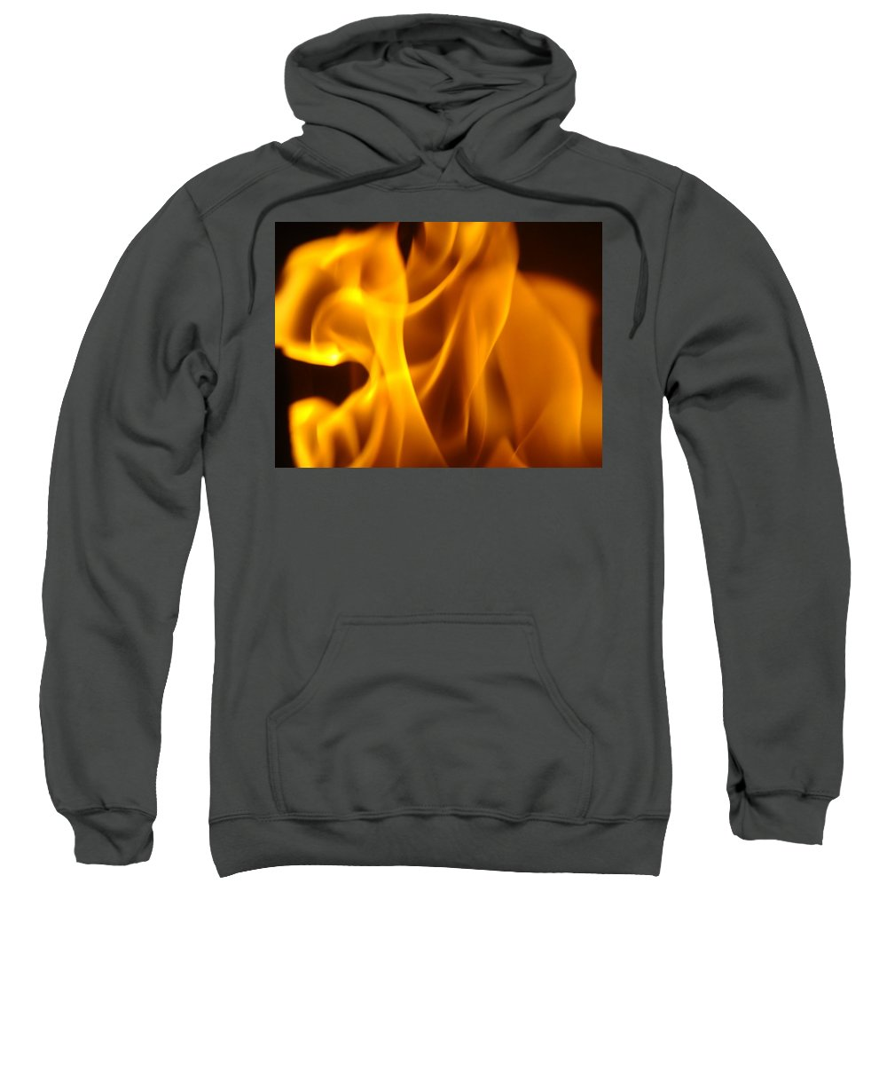 Fire Sweatshirt featuring the photograph Fire Desires Art Fiery Hot New York Autumn Warmth Baslee Troutman by Baslee Troutman