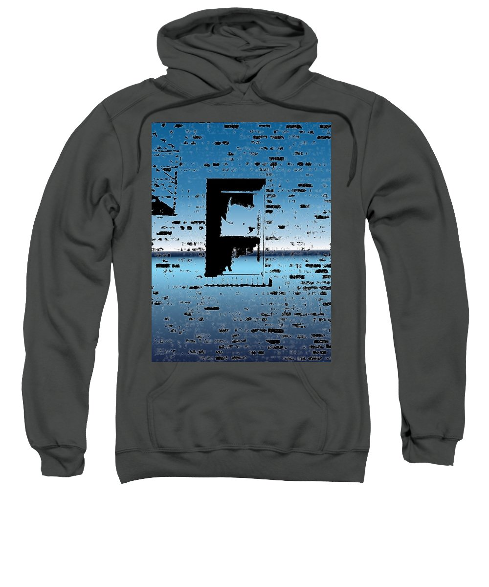 Window Sweatshirt featuring the digital art Fire Escape Window by Tim Allen