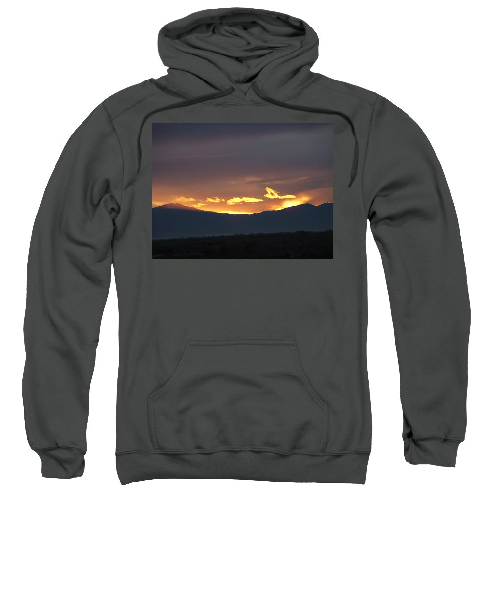 Sunset Sweatshirt featuring the photograph Fire In The Sky by Shari Chavira