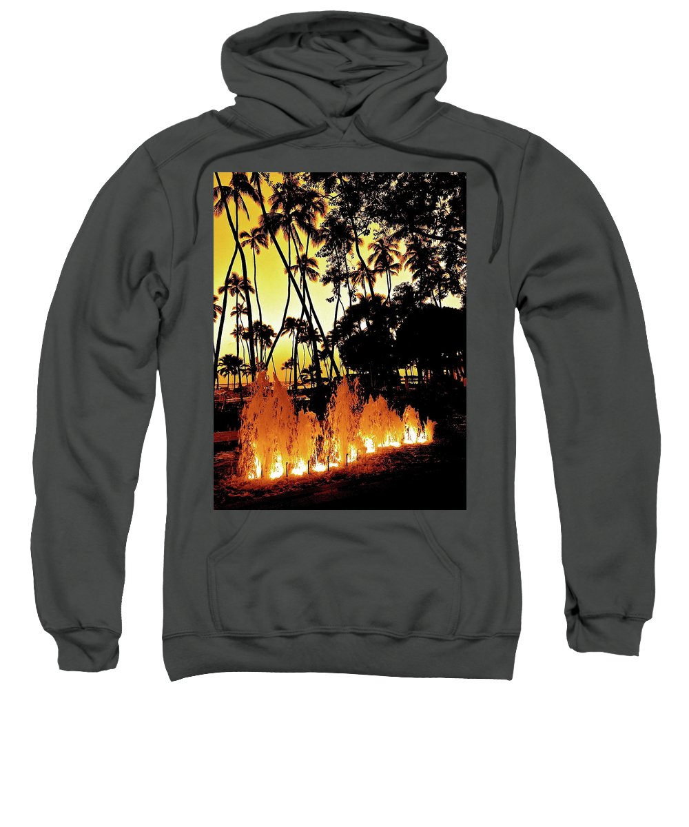 Hawaii Sweatshirt featuring the photograph Fire Water by Mark Lemon
