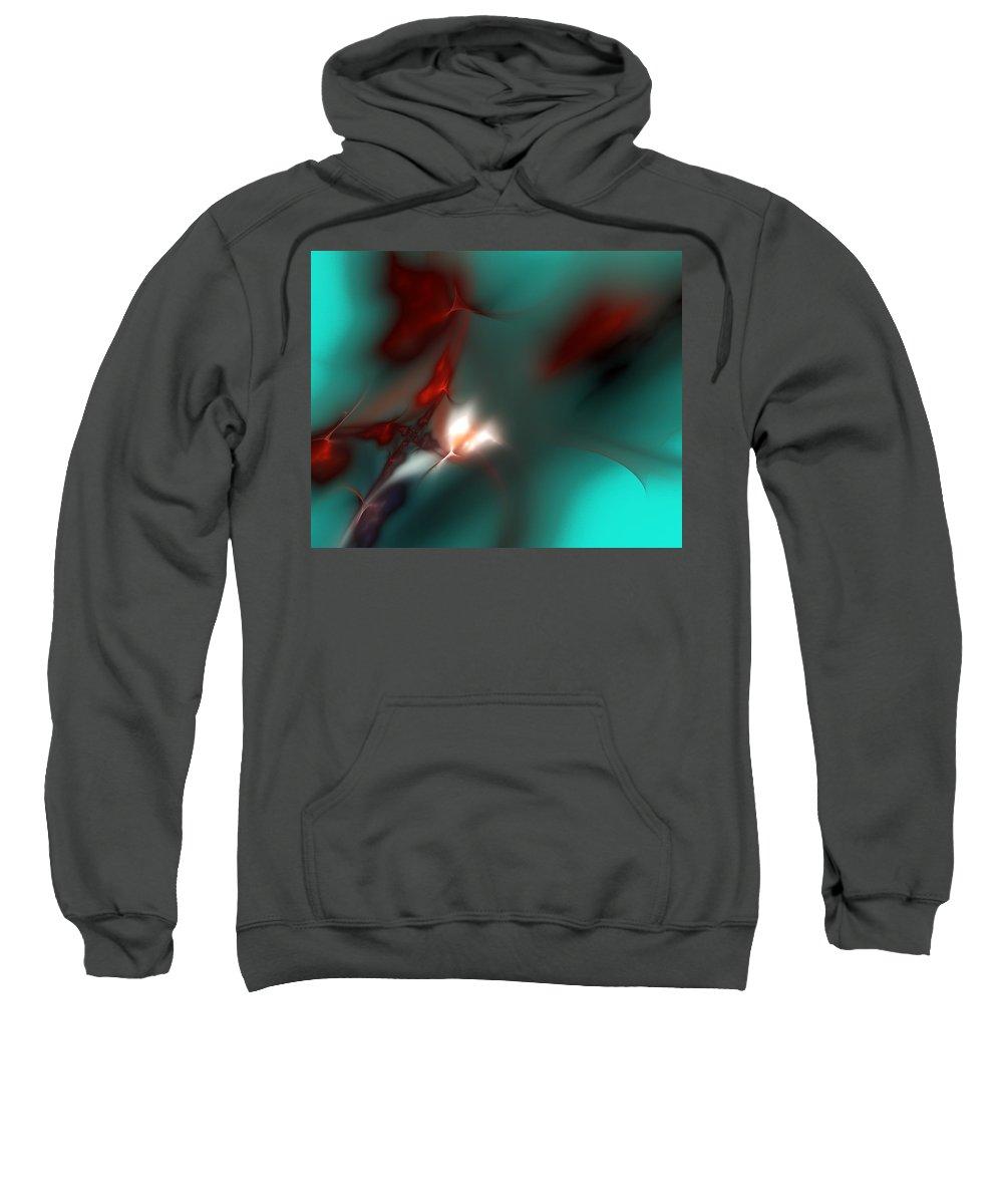 Digital Painting Sweatshirt featuring the digital art Firefly by David Lane