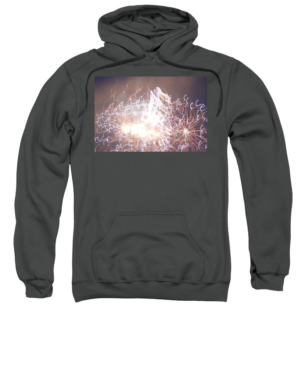 Fire Sweatshirt featuring the digital art Fireworks In The Park 6 by Gary Baird