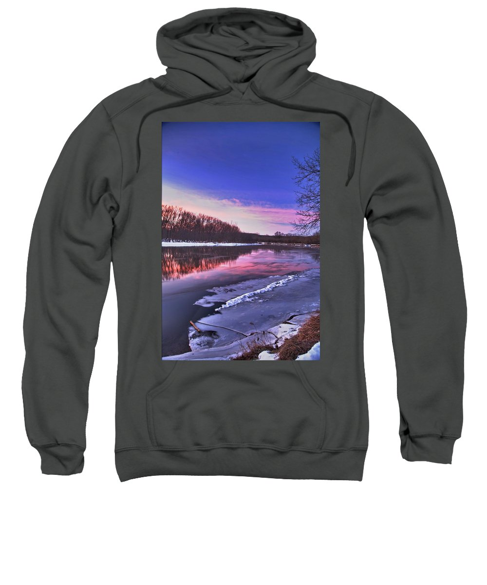 River Sweatshirt featuring the photograph First Light by Robert Pearson