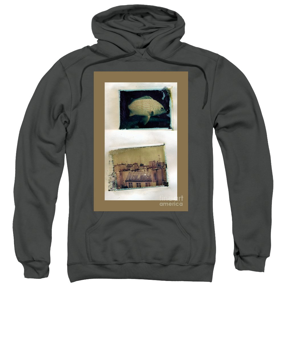 Fish Sweatshirt featuring the photograph Fish Over Paris by Madeline Ellis