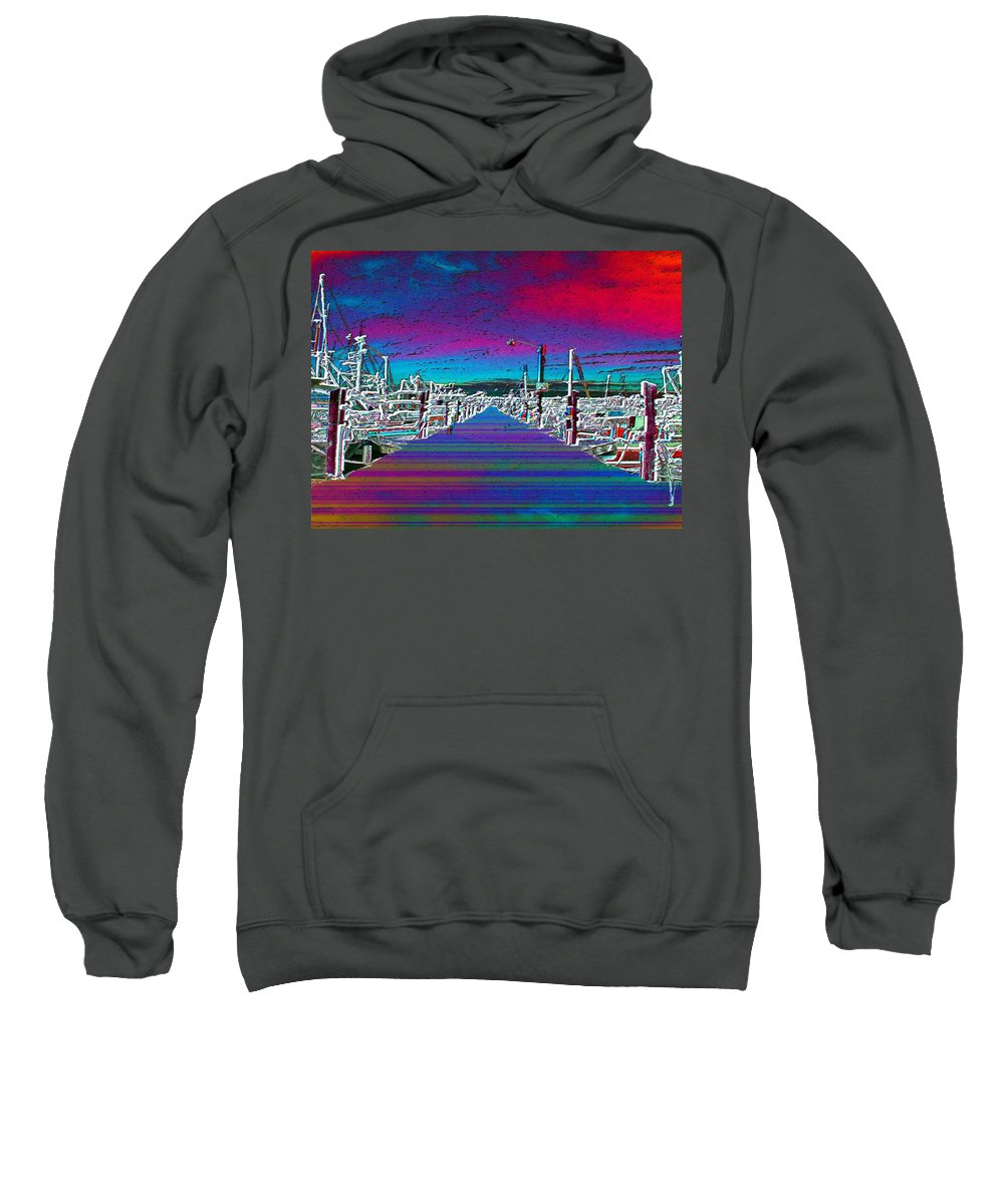 Seattle Sweatshirt featuring the photograph Fishermans Terminal Pier by Tim Allen
