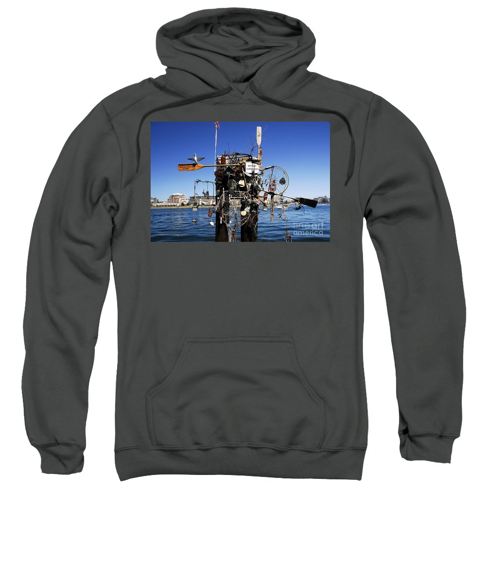 Fisherman Sweatshirt featuring the photograph Fisherman's Wharf by David Lee Thompson