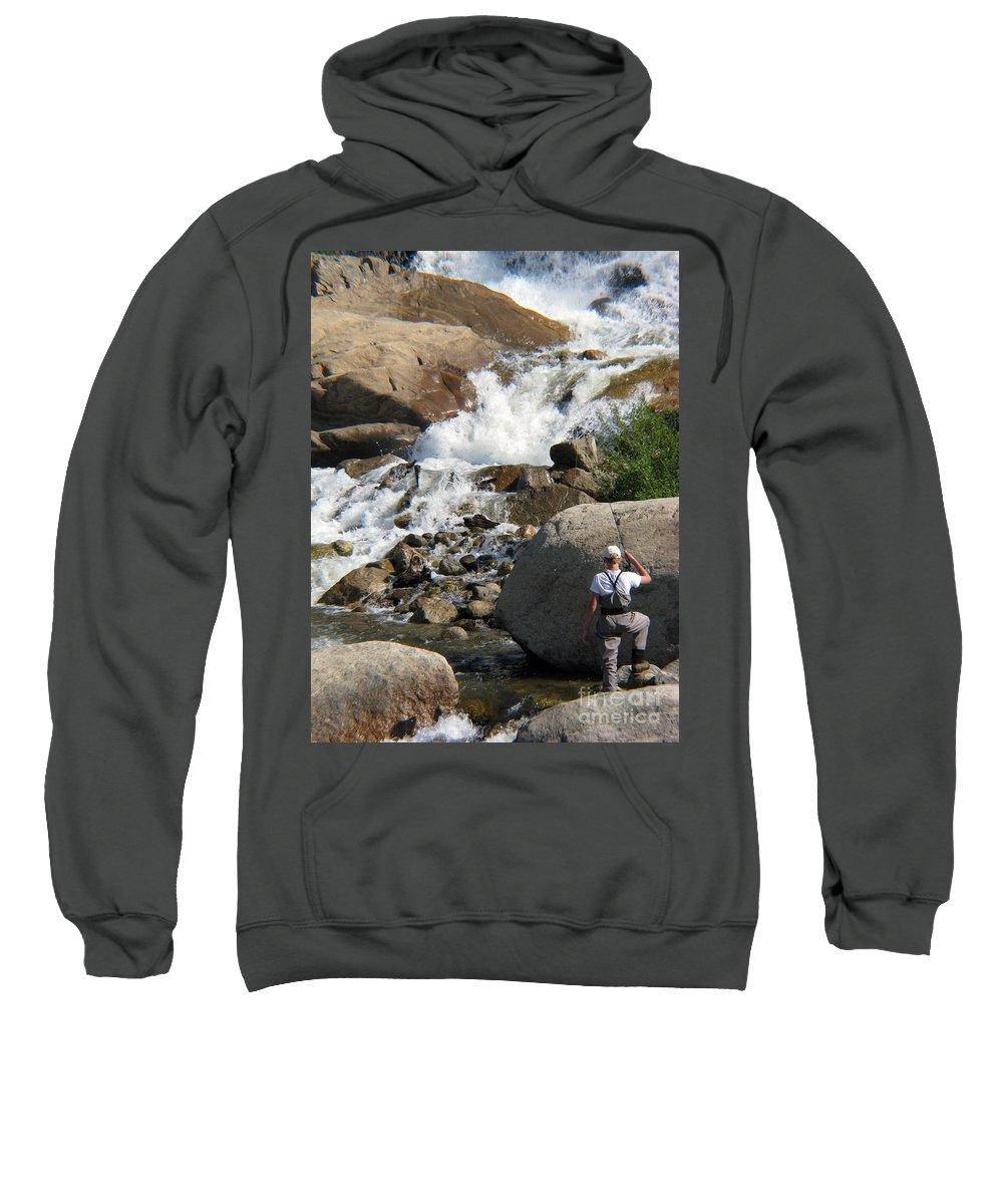 Fishing Sweatshirt featuring the photograph Fishing Anyone by Amanda Barcon