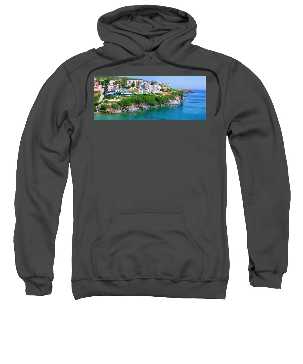Greece Sweatshirt featuring the photograph Fishing Village Bali by Sun Travels
