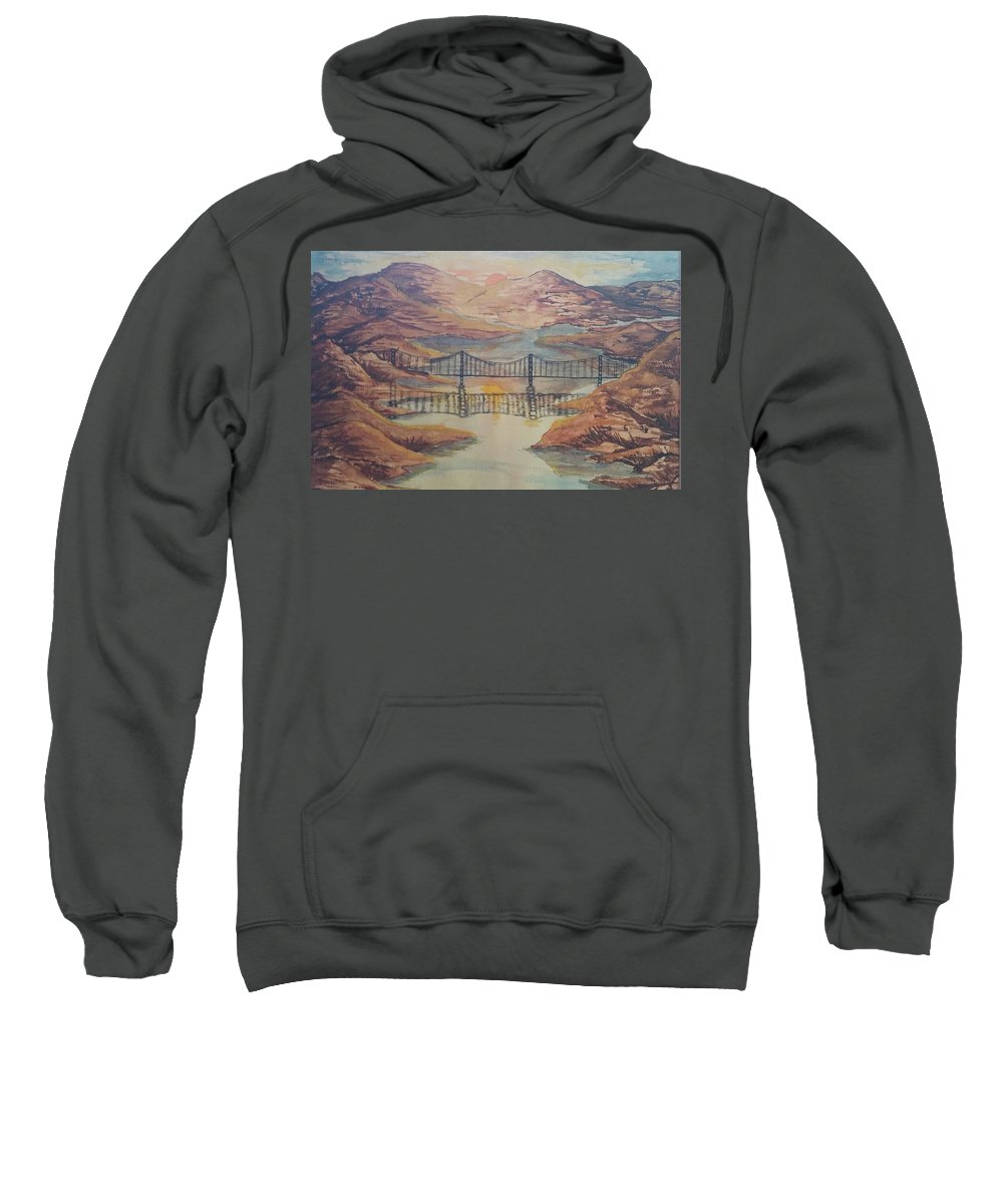 Sweatshirt featuring the painting Fjord by Jan Marie