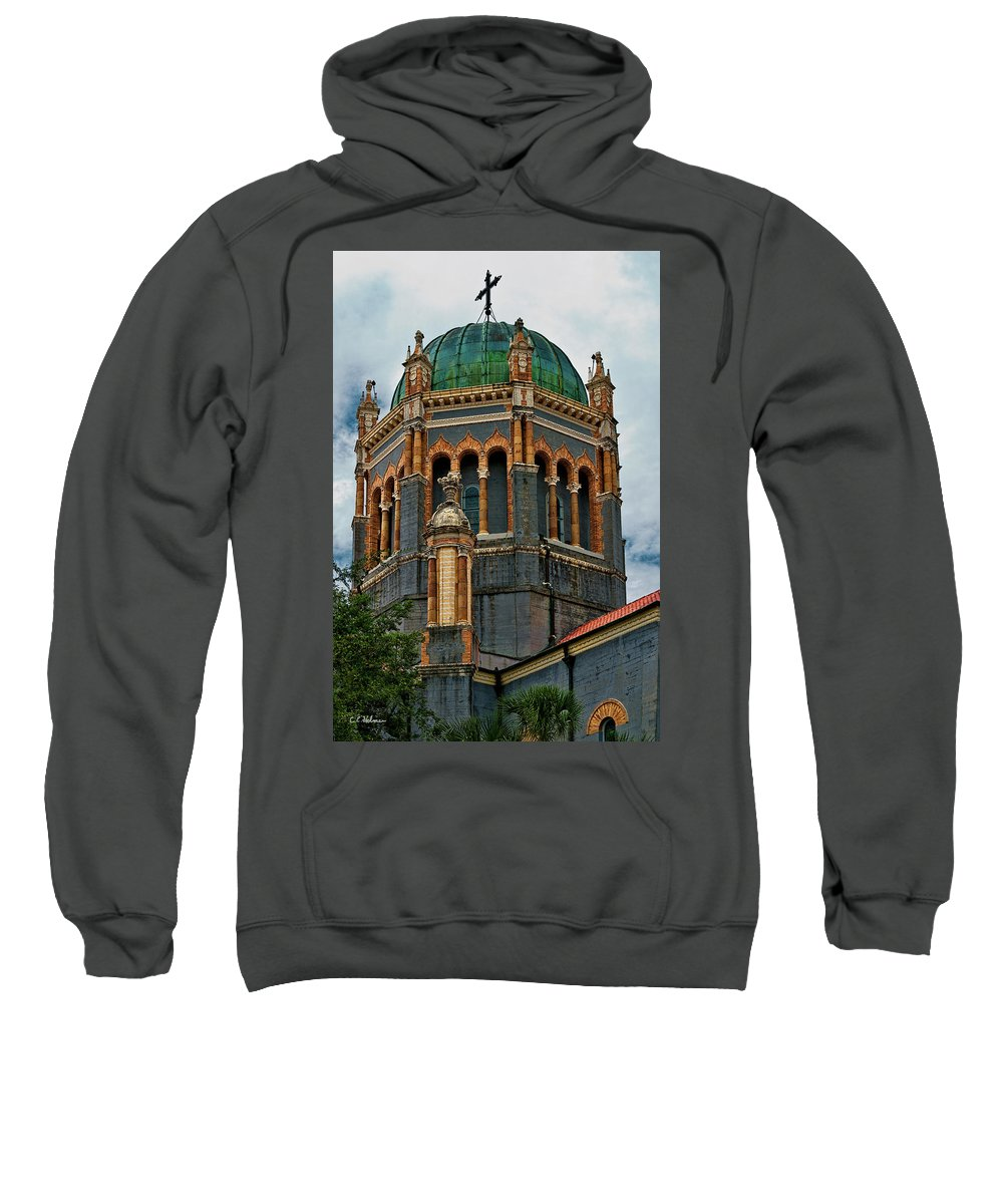 Church Sweatshirt featuring the photograph Flagler Memorial Presbyterian Church 3 by Christopher Holmes