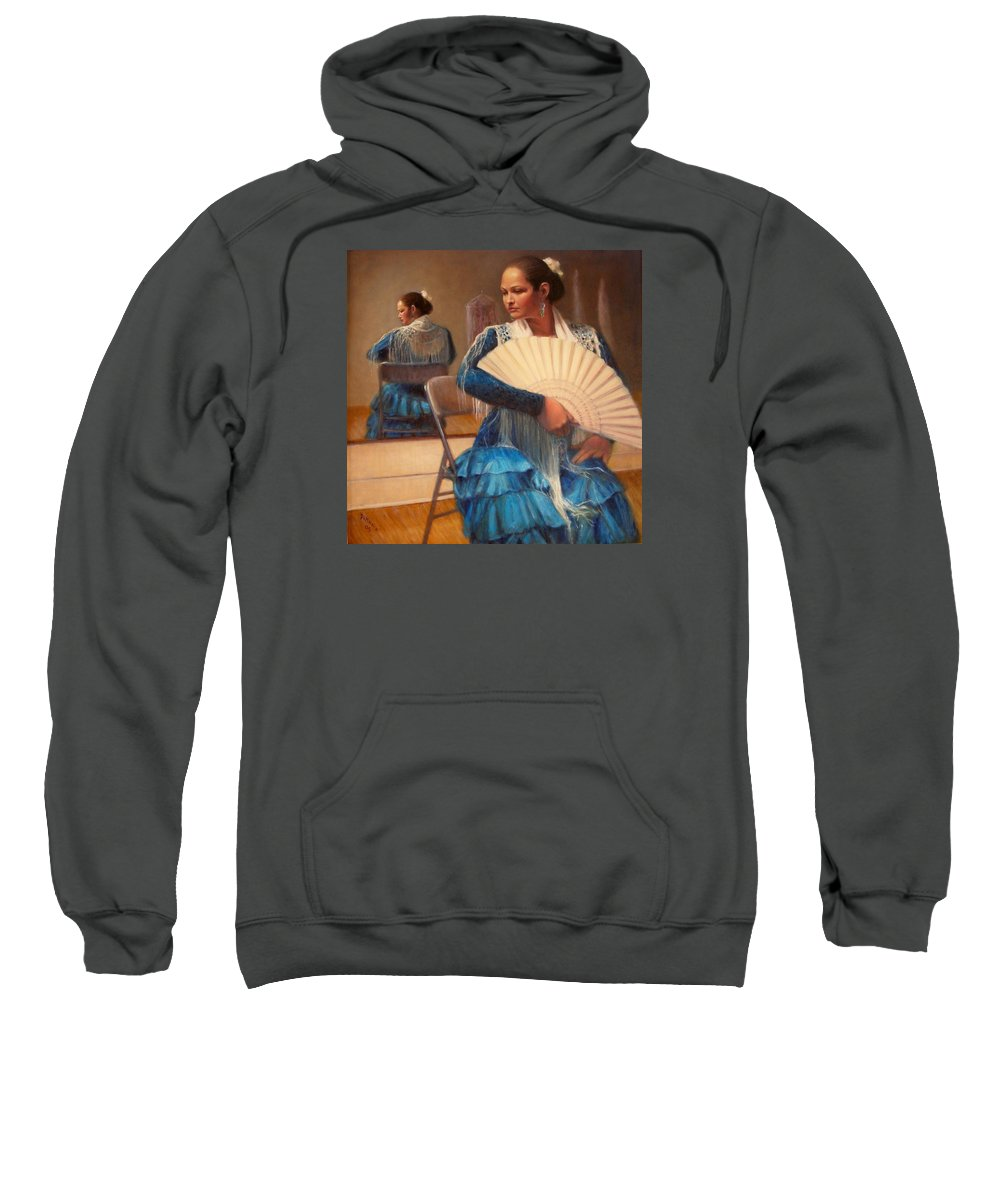 Realism Sweatshirt featuring the painting Flamenco 1 by Donelli DiMaria