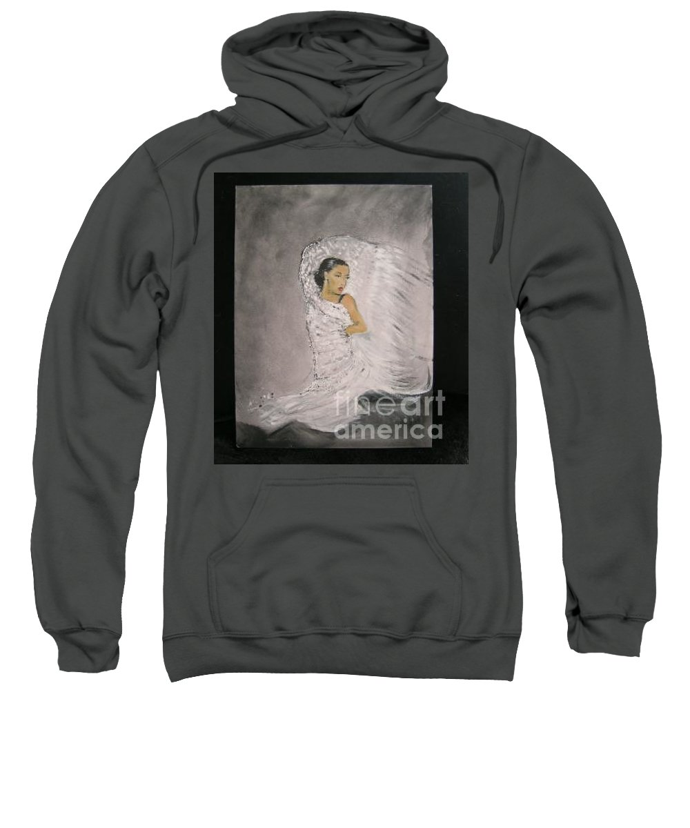 Spain Sweatshirt featuring the painting Flamenco by Lizzy Forrester