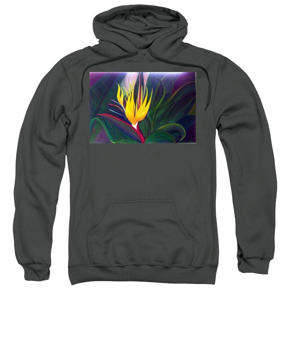 Bird Of Paradise Sweatshirt featuring the painting Bird Of Paradise by Dina Holland