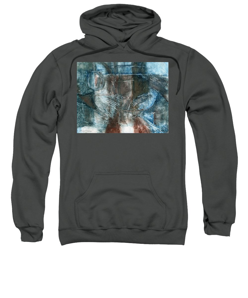 Flight Sweatshirt featuring the drawing Flight Passage by Kerryn Madsen- Pietsch