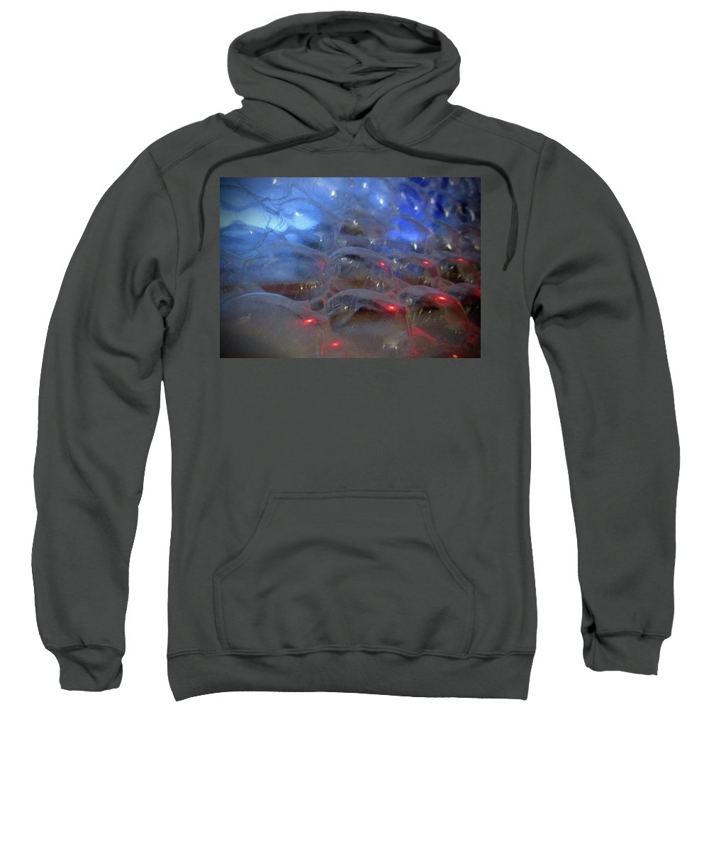 Abstract Sweatshirt featuring the photograph Floating Bubbles # 4 by Paolo Staccioli