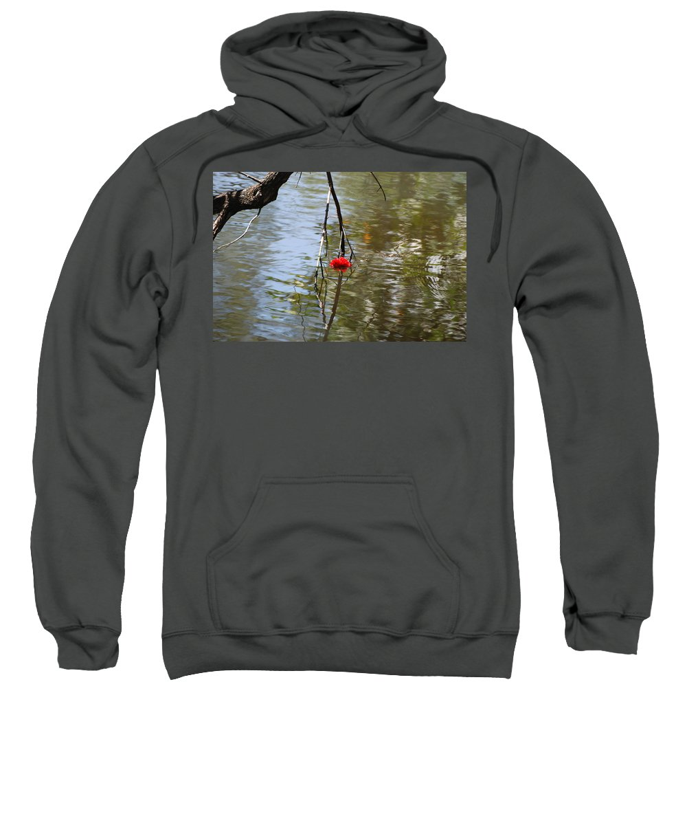 Water Sweatshirt featuring the photograph Floating Flower by Rob Hans