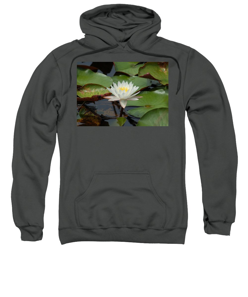 Alabama Photographer Sweatshirt featuring the photograph Floating Water Lilly by Michael Thomas