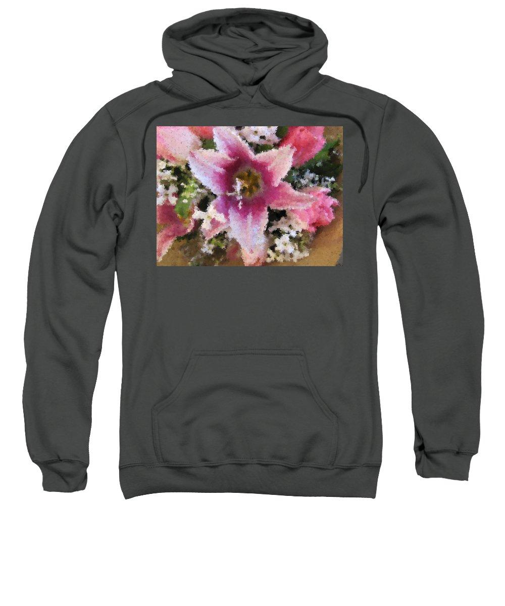 Flower Sweatshirt featuring the digital art Floral Beauty by Tim Allen